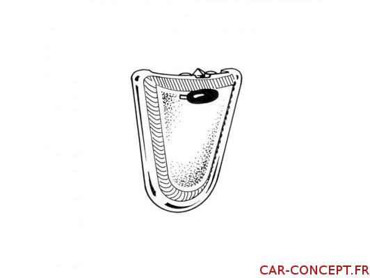 Plafonnier pour cabriolet 68->