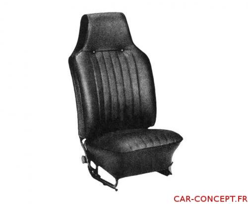 Jeu de housse de siège Cox cabriolet 68/69 noire