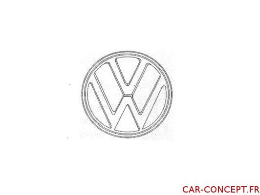 Sigle logo VW blanc pour Combi 73/79