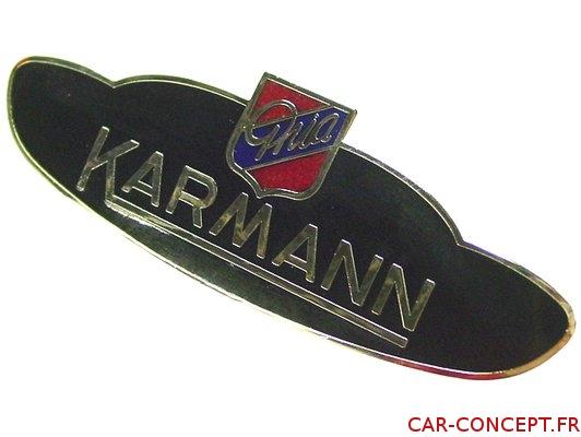 Sigle écusson Karmann Ghia d'aile
