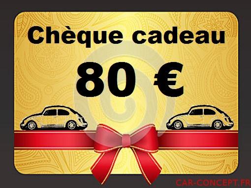 Chèque cadeau de 80 euros