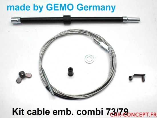 kit de cable d'embrayage complet combi 73/79