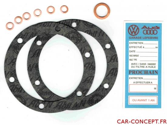 Pochette de joint de vidange allemande qualité VW 61->  (+étiquette)
