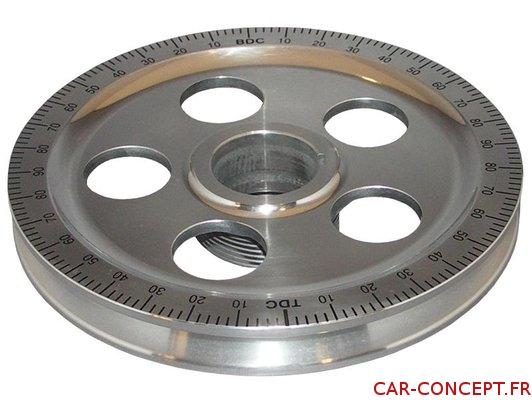 Poulie vilebrequin en aluminium diamètre d'origine