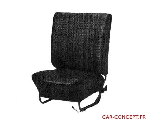 Jeu de housse de siège Cox cabriolet 68/72 EURO noire