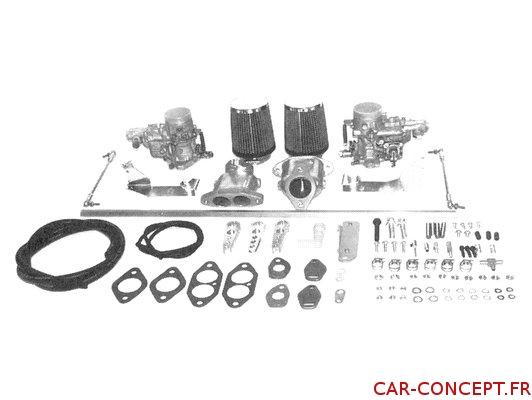 Kit de 2 carburateur EMPI 34 EPC 13/1600 Double admission