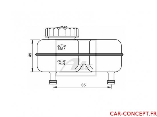 Bocal de frein pour maître cylindre double circuit buggy