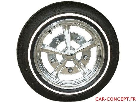 """Flancs à liseret Blanc de pneu 14"""" (les 4)"""