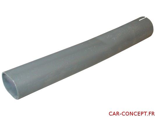 Embout peint en gris pour échappement 25cv et 30cv