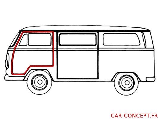 Joint de porte gauche pour Combi 68/79 Q+