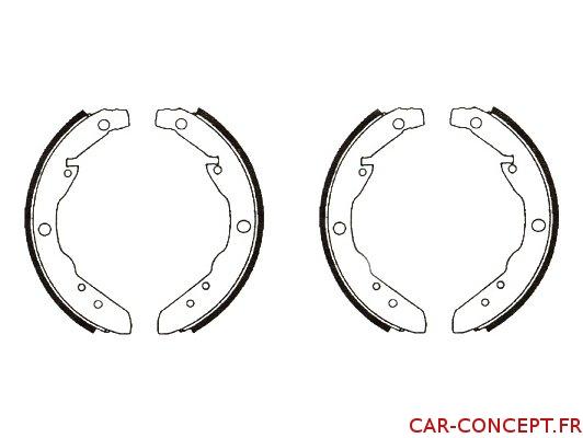 Garniture de frein arrière pour Combi 64/70