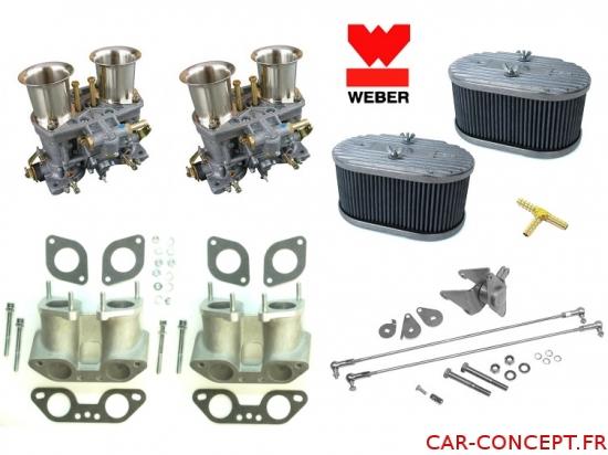 Kit double carburateur weber IDF 44  pour moteur type 4