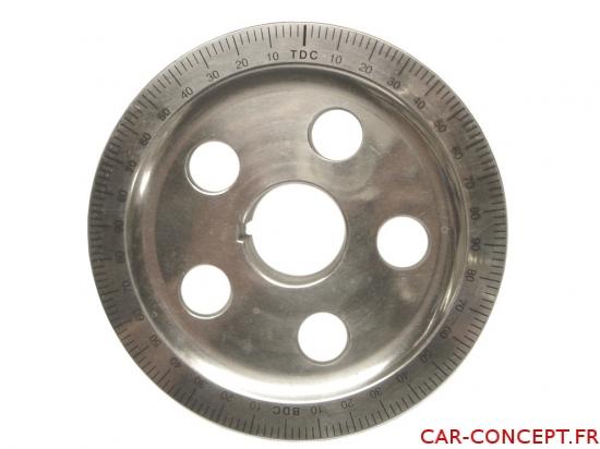 Poulie vilebrequin en aluminium petit diamètre 145mm