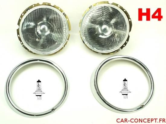 Kit phare H4 de qualité (avec ampoules H4)