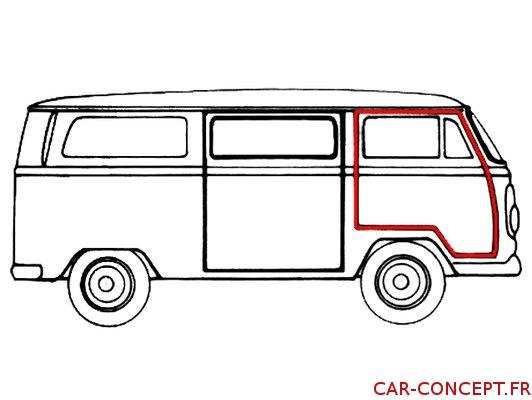 Joint de porte droit pour Combi 68/79 Q+