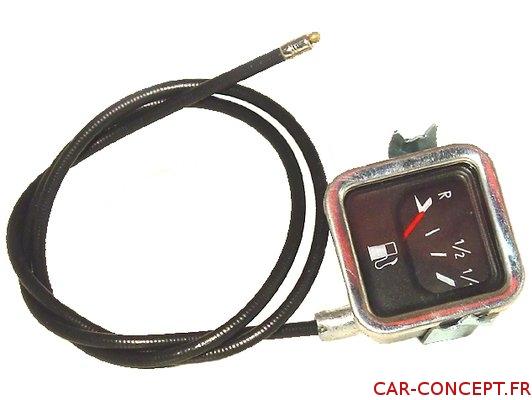 Récepteur de jauge à essence carré à câble