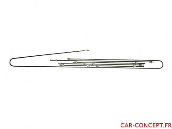 Kit tuyau de frein métal pour Combi 57/67  Q+