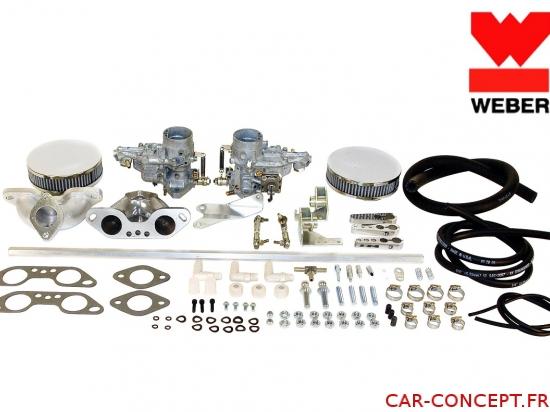 Kit 2 Carburateurs WEBER 34 ICT pour moteur Type 4