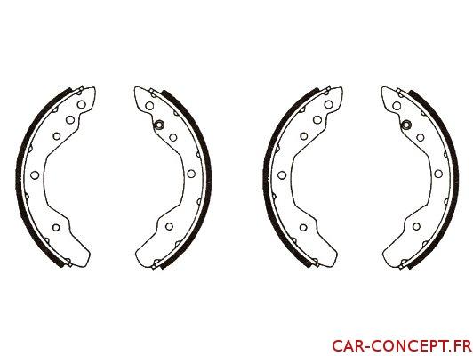 Garniture de frein arrière pour Combi 72/73