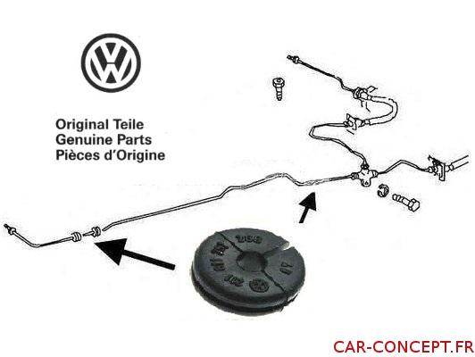 Passe tuyau de frein dans chassis origine VW