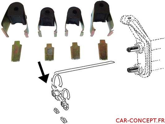 Kit fixation de barre stabilisatrice 66->