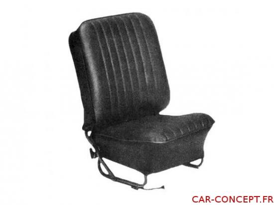 Jeu de housse de siège pour cox berline 56/64 TMI noire