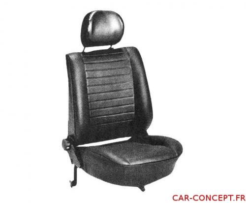 Jeu de housse de siège Cox cabriolet 77/79 SQ noire