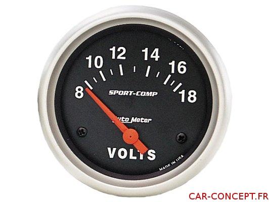 Manomètre voltmètre AUTOMETER 67MM
