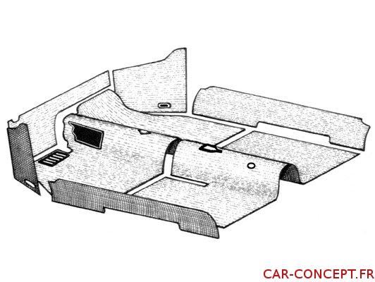 kit moquette noire pour cabriolet 1302 71/72