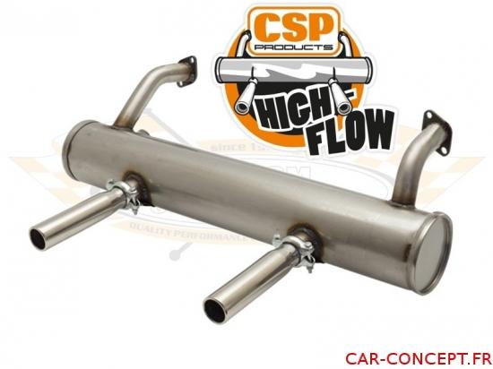 Echappement CSP High-Flow Inox sans préchauffage 1300/1600 66->