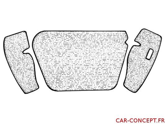 Moquette grise de coffre avant pour 1302