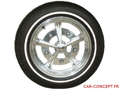 """Flancs à liseret blanc pour pneu 15"""" (les 4)"""