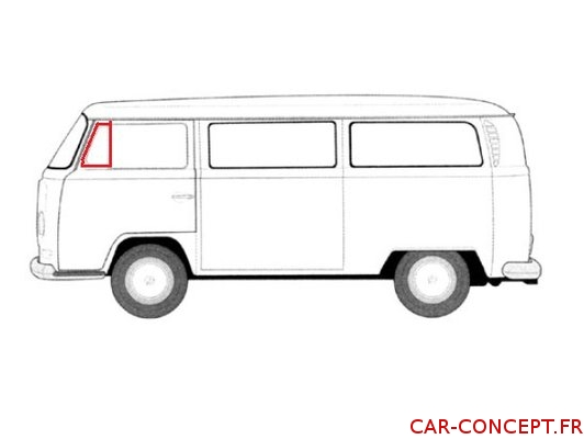Joint déflecteur gauche pour Combi 68->