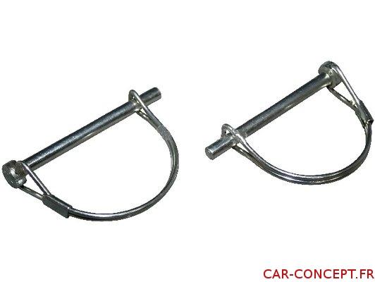 Goupilles pour remplacement d'axe de capot (la paire)