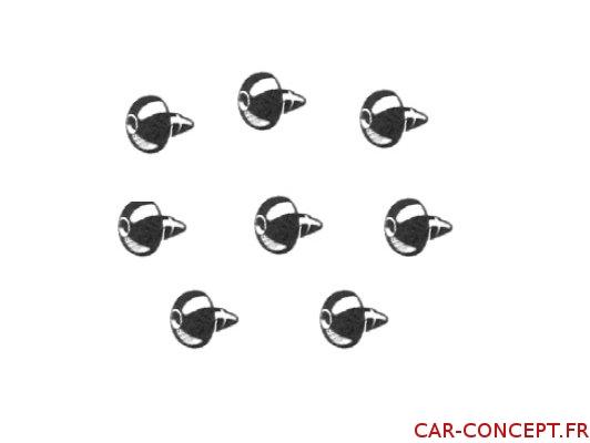 Set de 8 caoutchoucs anti-vibratoire de vitre de porte KG