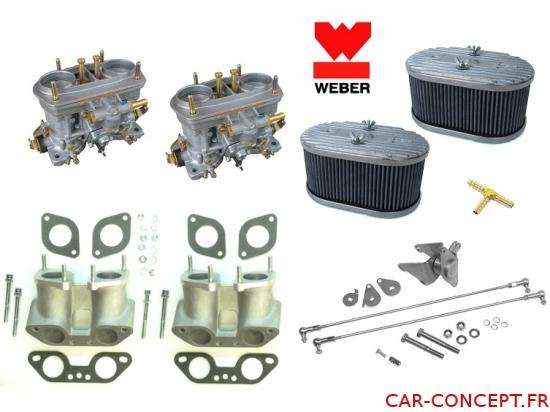 Kit double carburateur weber IDF 40  pour moteur type 4