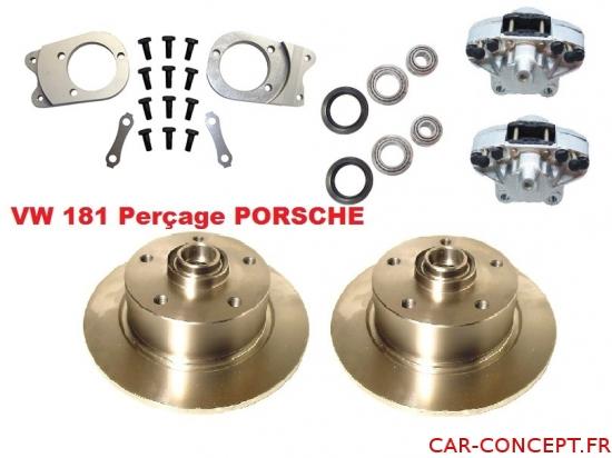 kit frein à disque avant pour 181 perçage Porsche