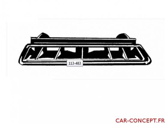 grille de ventilation de pare-brise centrale 68/78 luxe pour véhicule avec tableau de bord en mousse)