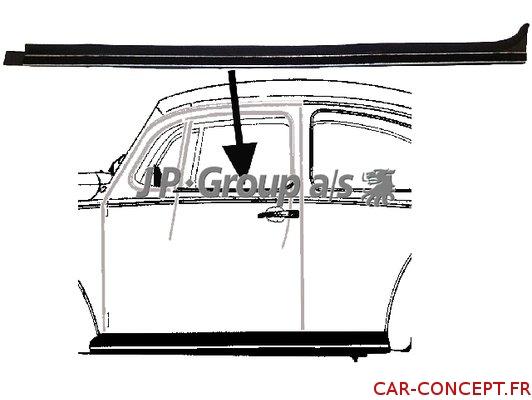 Lèche vitre intérieur gauche 65->