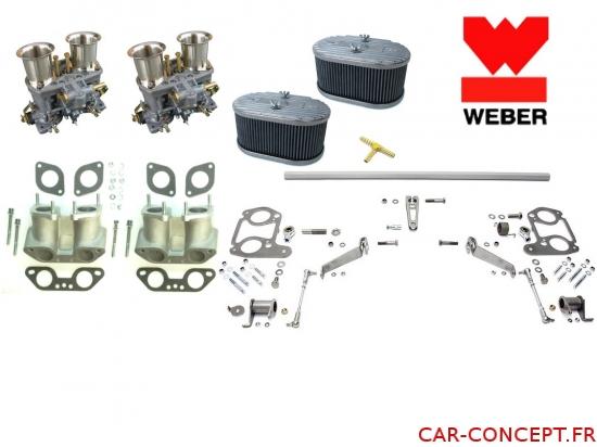 Kit double carburateur weber IDF 48  pour moteur type 4