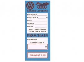 Etiquette de vidange VW Audi