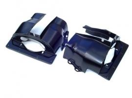 Couvre cylindre double admission noir (la paire)
