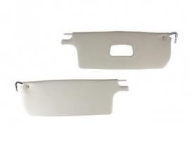 Pare-soleil blanc pour cabriolet 65/72 (la paire)