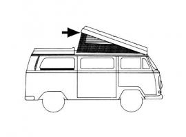 Joint de toit ouvrant westfalia  pour Combi 68/73
