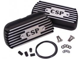 Cache culbuteur CSP noir (la paire)