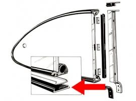 Paire de joint de vitre entre cadre et caisse karmann