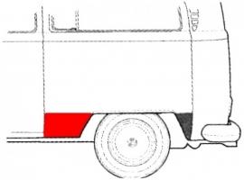 Bas d'aile arrière gauche devant la roue Combi 73-79