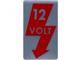 Étiquette autocollant 12V de montant de porte