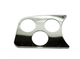 Support de manomètre chrome 3 trous 52mm