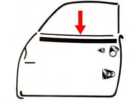 Lèche-vitre vitre intérieur de porte Karmann Ghia 56-74
